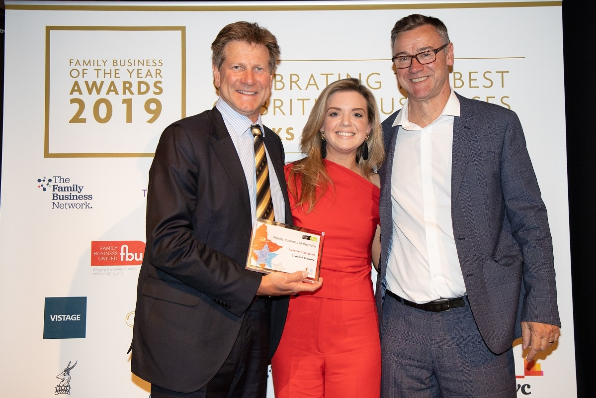Supreme Family Business Title for St Austell Brewery