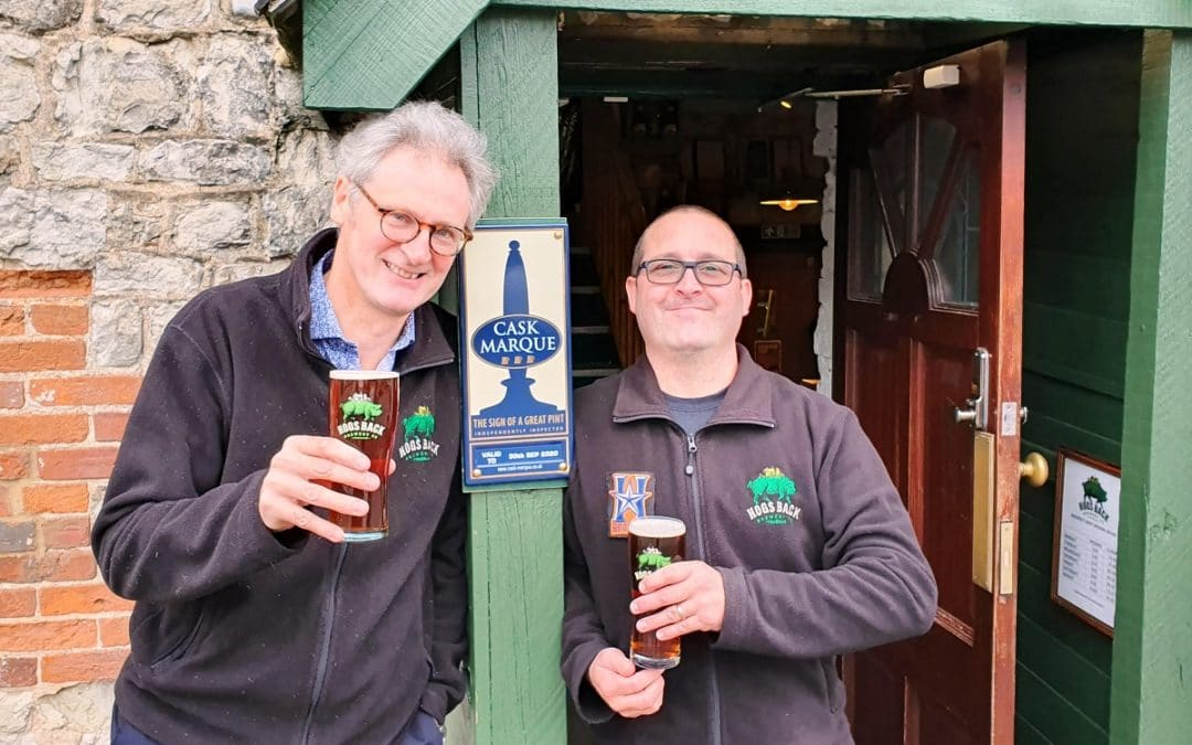 New Hogs Back Brewery Bar gains Cask Marque accreditation